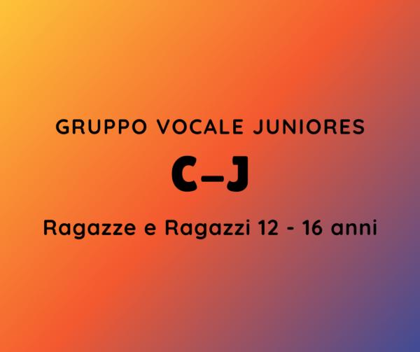 GRUPPO VOCALE JUNIORES C-J